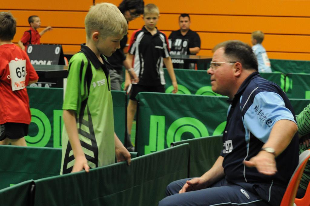 Uwe Draus coacht Daniel Meisner
